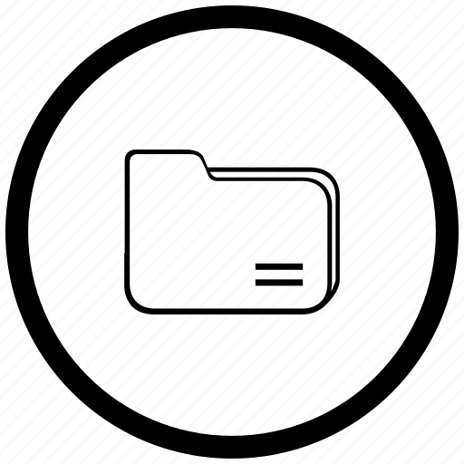 atm, documents, file, folder, round icon
