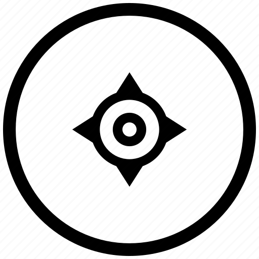 atm, cursor, geo, navigation, position, round icon