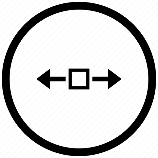 atm, horizontal, round, scroll, window icon