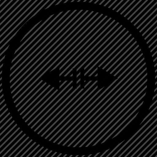 atm, border, cursor, horizontal, round, separate icon