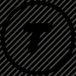 border, format, italic, round, text icon