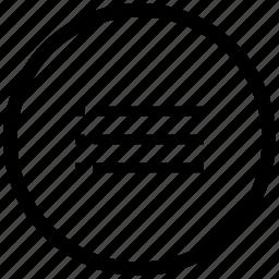 atm, list, listing, order, round icon