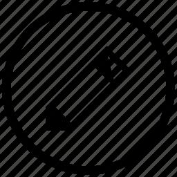 atm, edit, instrument, pen, pencil, round, tool icon