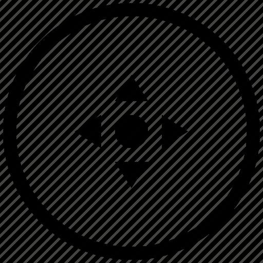 atm, cursor, navigation, pointer, position, round icon