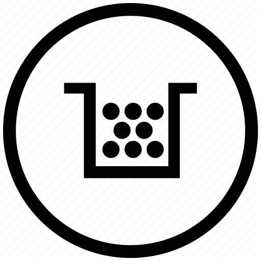 atm, cartridge, color, printer, round icon
