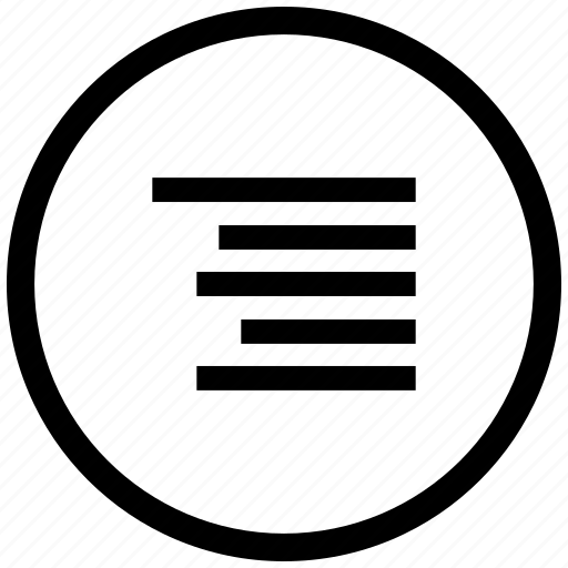 align, border, edit, format, right, round, text icon