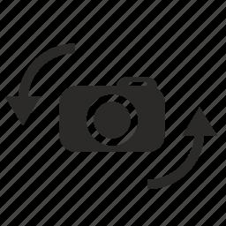 camera, device, photo, position, rotate, shot icon