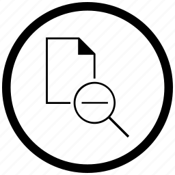 atm, document, file, minus, round, scale icon