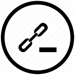 border, cut, erase, function, href, link, seo icon