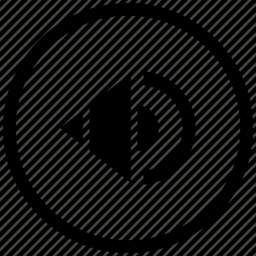 atm, music, mute, round, sound, speaker icon