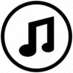 atm, music, mute, note, round, sound icon