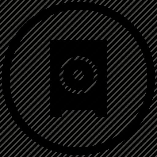 atm, listen, music, mute, round, sound, speaker icon