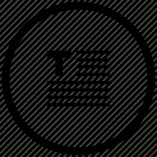 border, edit, editor, format, round, text icon