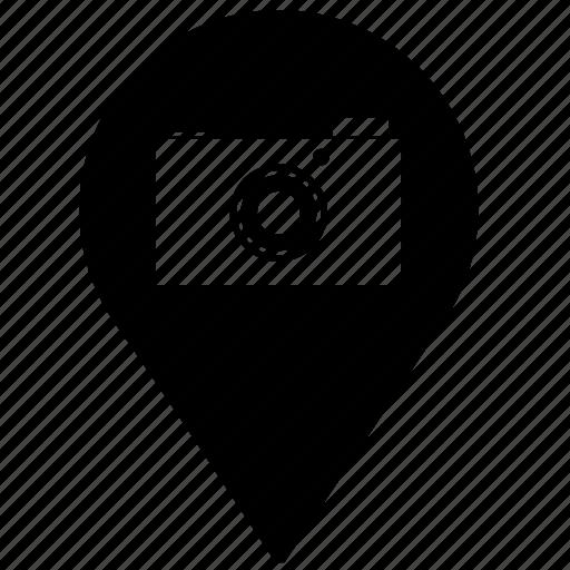 camera, digital, geo, location, photo, point, shot icon
