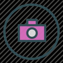 camera, circle, photo, picture icon