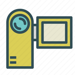 camera, digital, front, video, view icon