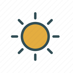 brithness, light, options, settings, shine, sun icon