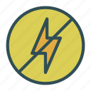 bolt, denied, lightining, not icon