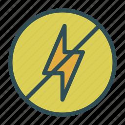 bolt, denied, lightining, not icon