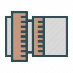 cutter, measure, photo, picture, ruler, tool icon