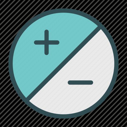 minus, options, plus, settings icon