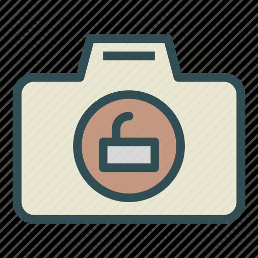 camera, key, photo, unlock icon