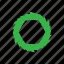 cartoon, circle, element, modern, shape, technology, template icon
