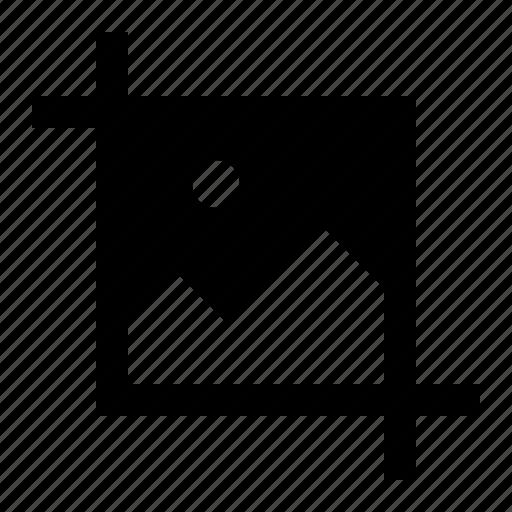 crop, fix, image icon