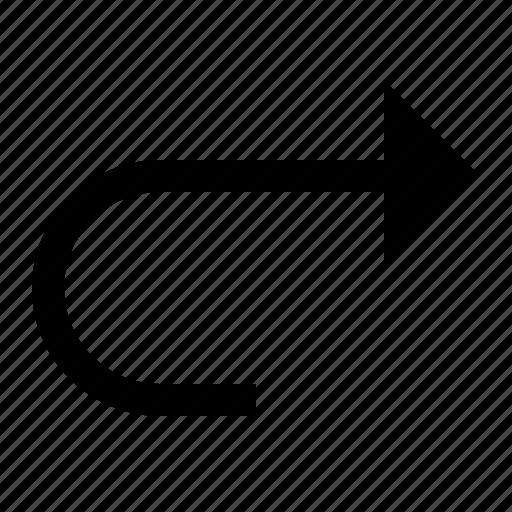 arrow, forward, redo icon