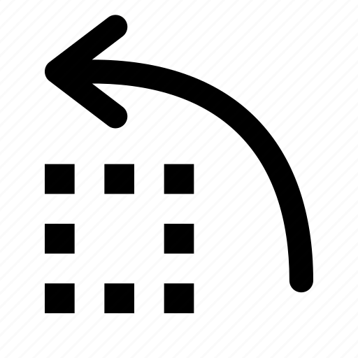 ccw, counter-clockwise, left, rotate, rotation icon