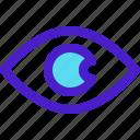 editor, eye, photo, red icon