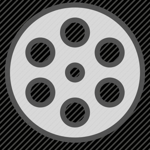 circle, negative, video icon