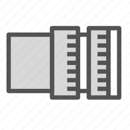 cut, measure, photo, picture, tool icon