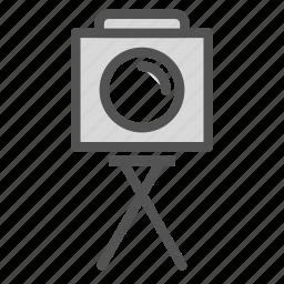 camera, old, photo, picture, tripod, vintage icon
