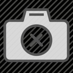 camera, cancel, photo, remove icon