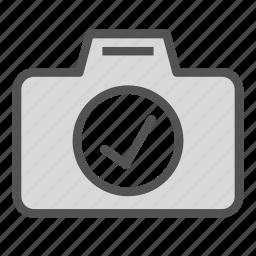 camera, check, ok, photo, picture icon