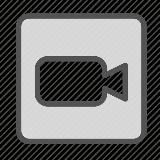 camera, media, square, video icon
