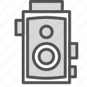 camera, old, plain, video, vintage icon
