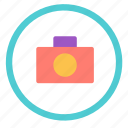 camera, circle, photo, picture icon
