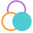 circle, color, edit, tool icon