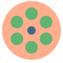 circle, negative, video icon