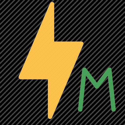 bolt, flash, lightining, manual, options, settings icon