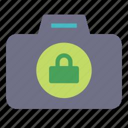 camera, key, lock, photo icon