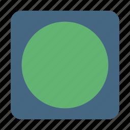 circle, frame, photo, picture, square icon