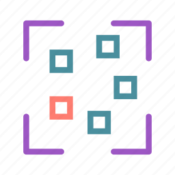 photo, picture, square, target, thumbnail icon