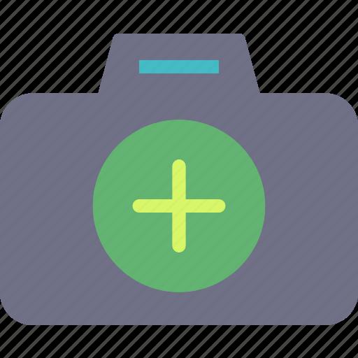 add, camera, device, photography, photoshoot icon
