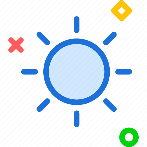 brightness, day, effect, light, options icon