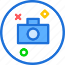 camera, circle, device, photography, photoshoot icon