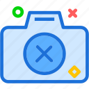 camera, cancel, device, photography, photoshoot icon