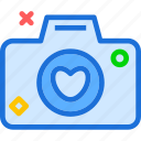 camera, device, heart, photography, photoshoot icon